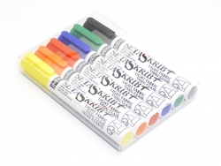 6 Pébéo markers for light fabrics - classic colours