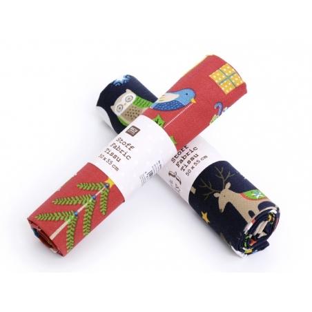 Acheter Coupon tissu à motifs - Noel rouge et animaux - 7,00€ en ligne sur La Petite Epicerie - 100% Loisirs créatifs