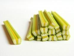 Cane papillon vert et jaune en pâte fimo - à découper en tranches
