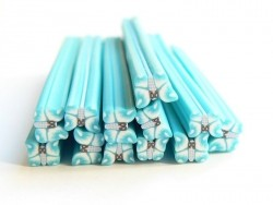 Butterfly cane - light blue