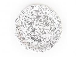 8 assiettes 23cm en papier à colorier -  My Little Day x OMY My little day - 1