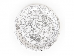 8 paper plates (23 cm) that can be coloured in - My Little Day x OMY