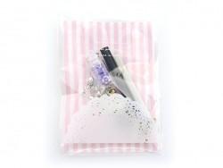 Pochette rose fushia en organza