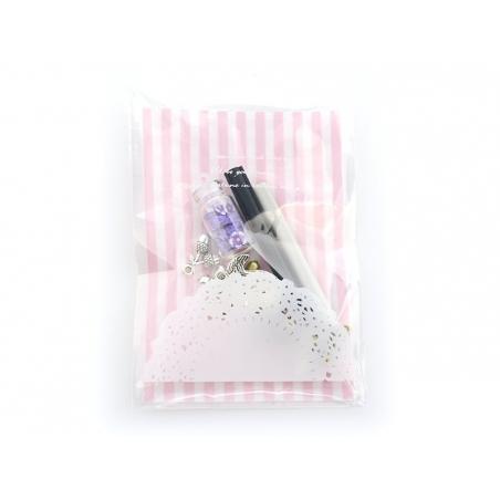 1 plastic bag - pink Gingham pattern
