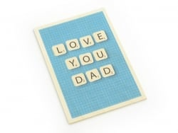 "1 carte en bois - ""Love you Dad"""