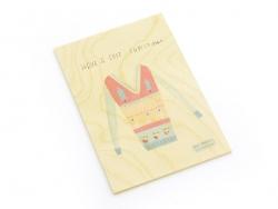 """1 carte en bois - """"Have a cosy Christmas"""""""