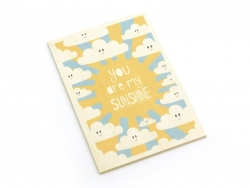 "1 carte en bois - ""You are my sunshine"""
