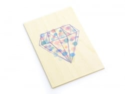 "1 Karte aus Holz - ""Diamant"