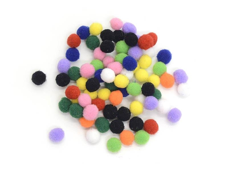 Small pompoms in different colours - 7 mm