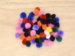 Pompons in verschiedenen Farben - 15 mm