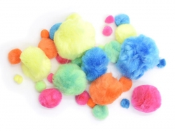 Pompoms - Neon colours