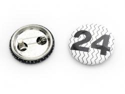 Badges pour calendrier de l'avent - Noir / Blanc