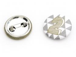 Badges pour calendrier de l'avent - Or / Argent