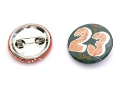 Adventskalender-Buttons - rot / grün