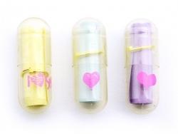 Lot de 10 gélules à message - transparentes