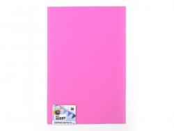 1 Moosgummiplatte - rosa