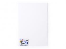 1 Moosgummiplatte - weiß