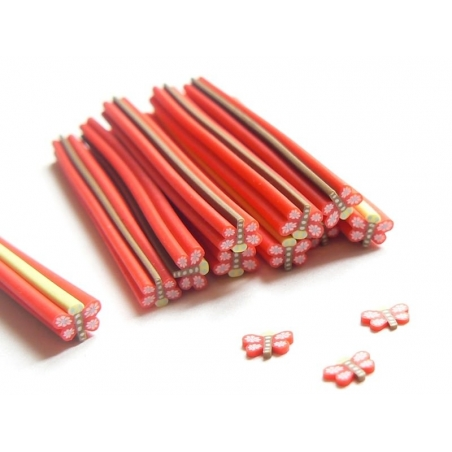 Dragonfly cane - red