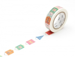 Masking tape with a pattern - Bunting Masking Tape - 1