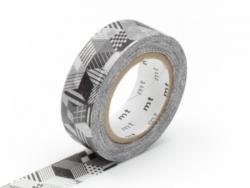Masking tape motif - Cubes rayés