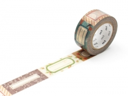 Masking tape with a pattern (20mm) - Tags Masking Tape - 1