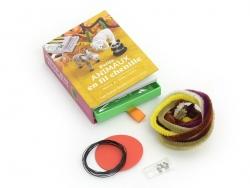 Coffret livre à tiroir - Petits animaux en fil chenille