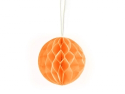 Mini boule alvéolée 5 cm - orange
