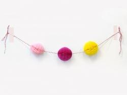 Mini boule alvéolée 5 cm - fushia
