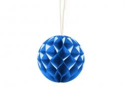 Mini boule alvéolée 5 cm - bleu royal  - 1