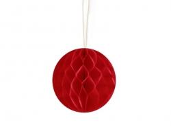 Mini boule alvéolée 5 cm - rouge  - 1