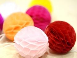 Mini boule alvéolée 5 cm - rouge
