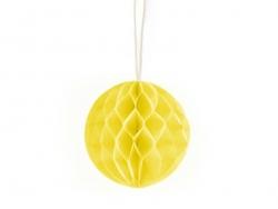 Mini boule alvéolée 5 cm - jaune  - 1