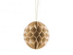 Kleiner Wabenball (5 cm) - kaffeefarben