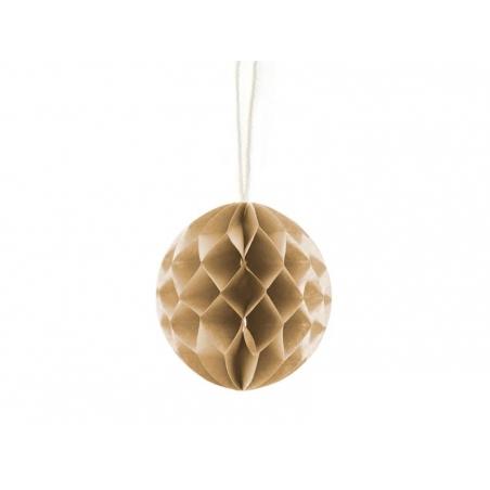 Mini boule alvéolée 5 cm - café