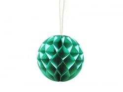 Mini boule alvéolée 5 cm - vert sapin  - 1