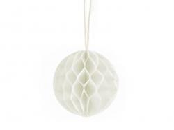 Mini boule alvéolée 5 cm - blanc