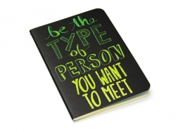 "Pocket notebook ""Quote - personality"" (12.5 cm x 8.5 cm) - 32 ruled pages"