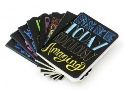"""Carnet de poche """"Citation - personnalité"""" 12,5 x 8,5 cm - 32 pages lignées"""
