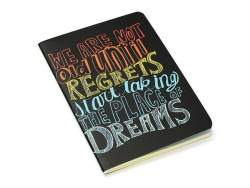 "Pocket notebook ""Quote - dreams"" (12.5 cm x 8.5 cm) - 32 ruled pages"