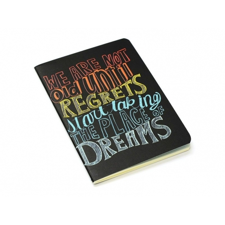 """Pocket notebook """"Quote - dreams"""" (12.5 cm x 8.5 cm) - 32 ruled pages"""