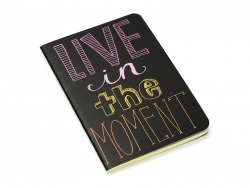 "Pocket notebook ""Quote - moment"" (12.5 cm x 8.5 cm) - 32 ruled pages"