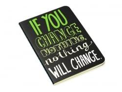 """Carnet de poche """"Citation - changer"""" 12,5 x 8,5 cm - 32 pages lignées"""