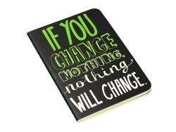 "Pocket notebook ""Quote - change"" (12.5 cm x 8.5 cm) - 32 ruled pages"