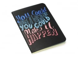 "Pocket notebook ""Quote - wish"" (12.5 cm x 8.5 cm) - 32 ruled pages"