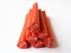 """Acheter Cane coeur """"LOVE"""" en pâte fimo - à découper en tranches - 0,49€ en ligne sur La Petite Epicerie - Loisirs créatifs"""