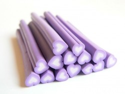 Heart cane - purple