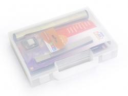 Kleiner Koffer mit 14 Modellierwerkzeugen + DVD und Karten mit Bastelideen
