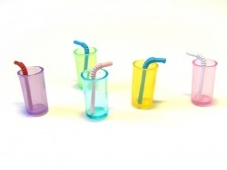 8 Mini Drinking Glasses