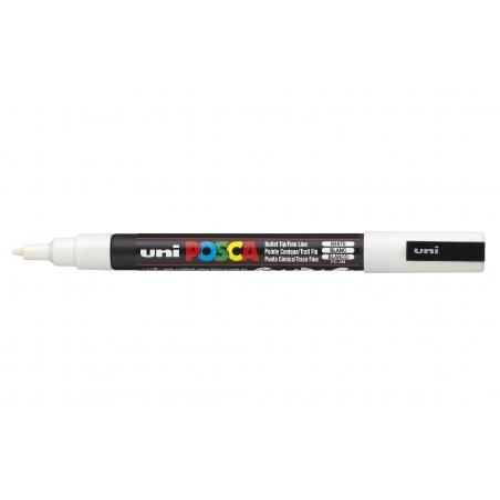 Marqueur posca - pointe fine 1,5 mm - blanc