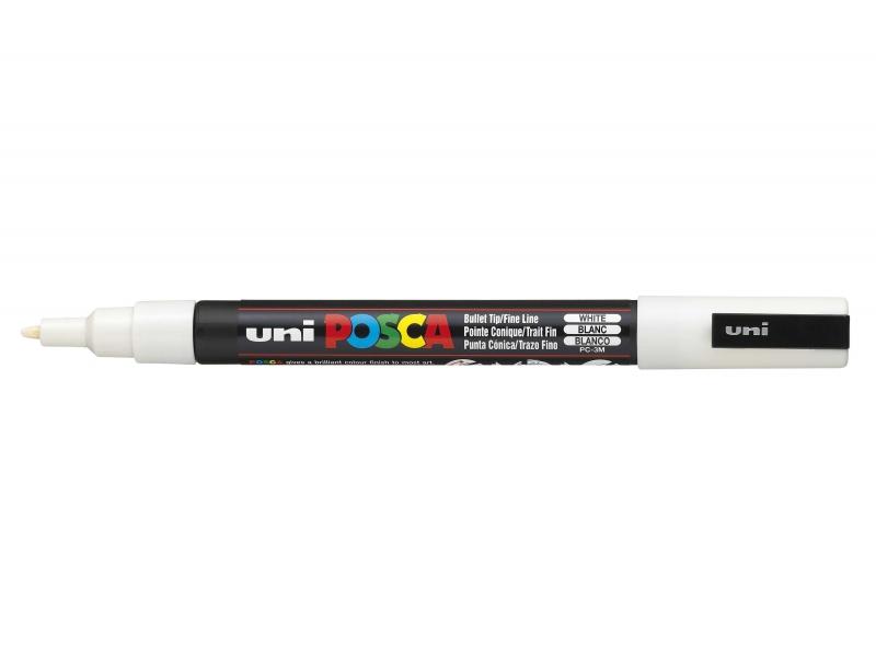 Marqueur posca - pointe fine 1,5 mm - blanc Posca - 1
